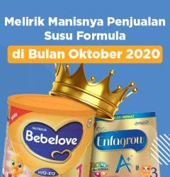 Melirik manisnyapenjualan susu formula Oktober 2020